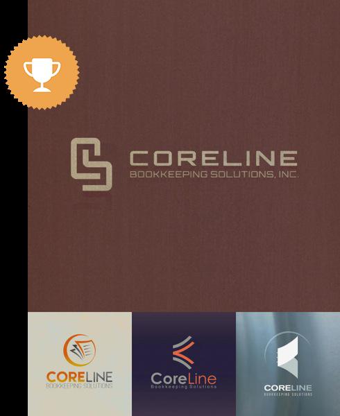 coreline accounting logo design
