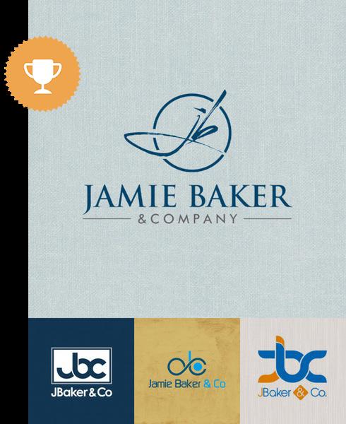 jamie baker accounting logo design