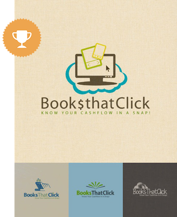 books that click accounting logo design