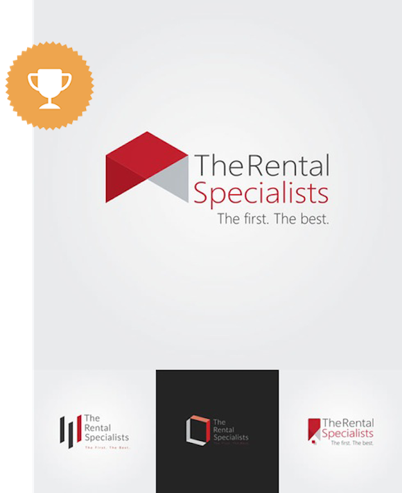 the rental specialists children logo design