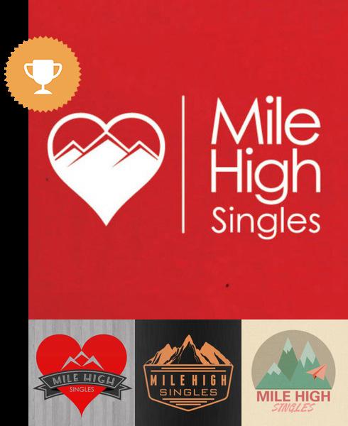 mile high singles dating logo design