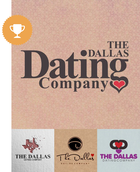 the dallas dating company dating logo design