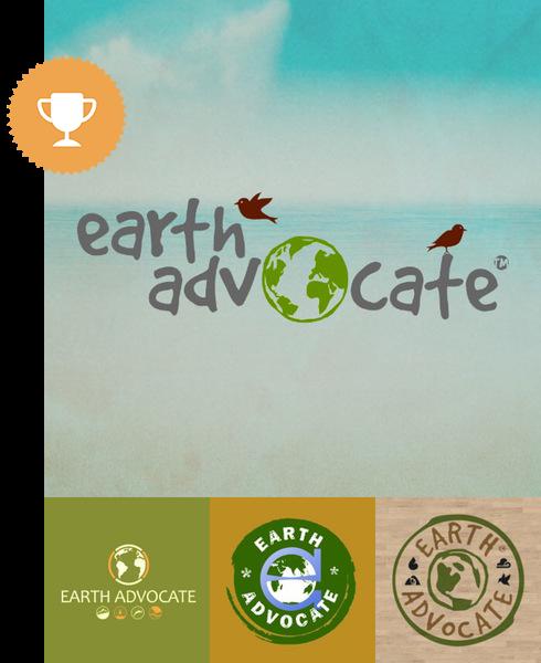 earth advocate environmental logo design