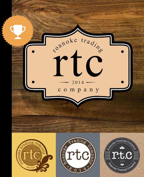 roanoke trading company fashion logo design