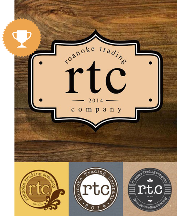 roanoke trading company fashion logo design