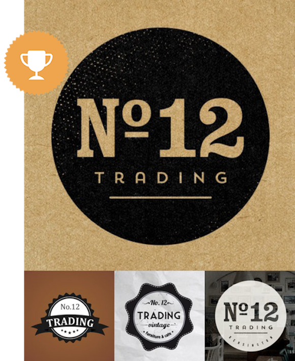 no. 12 home furnishings logo design