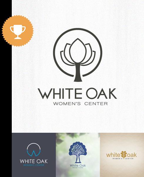 white oak women's center medical logo design
