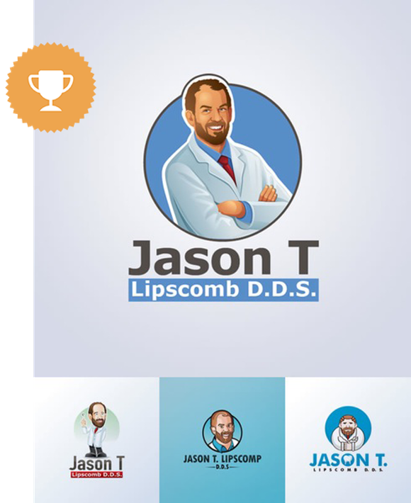 jason t. d.d.s. medical logo design