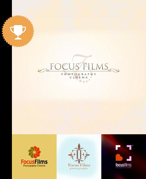 focus films photography logo design
