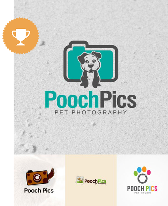 pooch pics pet photography logo design