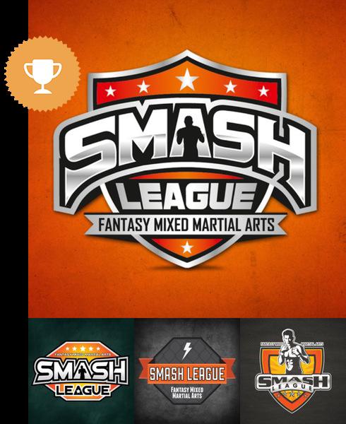 smash league physical fitness logo design