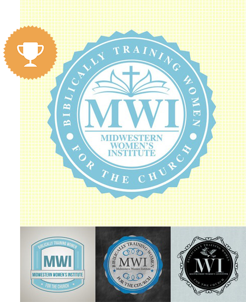 biblically training women for the church religious logo design