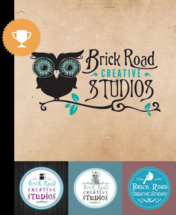 brick road creative studios retail logo design