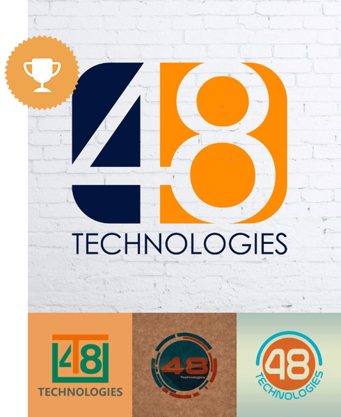 48 technologies technology logo design