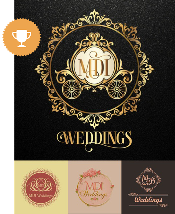 mdi wedding services logo design