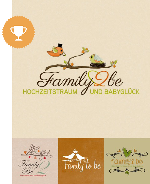 family2be wedding services logo design