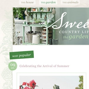 Web page design for Sweet Country Life by RMDesigns