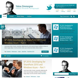 WordPress theme design for Professional blog by SleepyOctopuss