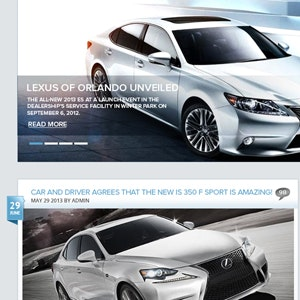 Web page design for Lexus of Orlando Blog  by hafizcom
