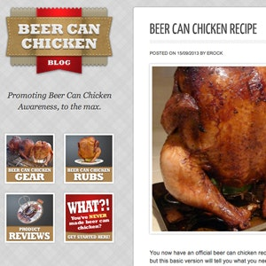 WordPress thema ontwerp voor Beer Can Chicken Blog door lagun83