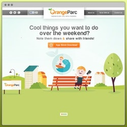 Logo design for OrangeParc by zainab.co