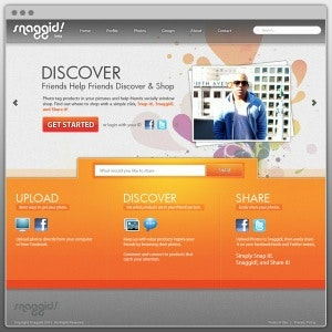 Landing page design for Snaggid! by T6S