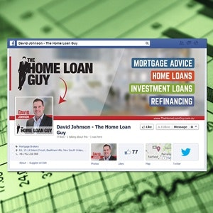Facebook cover per Home Loan Guy di vexaro