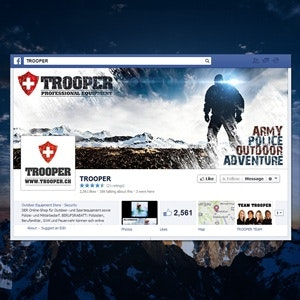 Facebook cover for Trooper by Mu-riaas