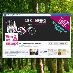 Facebook cover for Le Camping by Xavier64