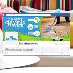 Facebook cover for Empire Carper Cleaning by PenxelDesign