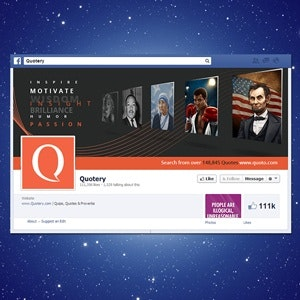 Facebook cover for Quoto by cherie.smith