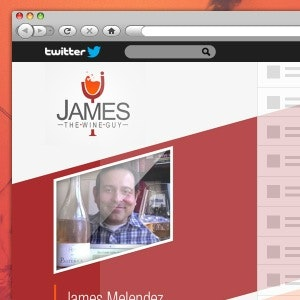 Social media page for James the Wine Guy by M I N N I MUM