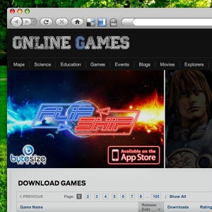 Banner ad for ByteSize Games by Irsh.k