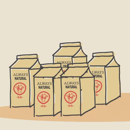 branded milk cartons