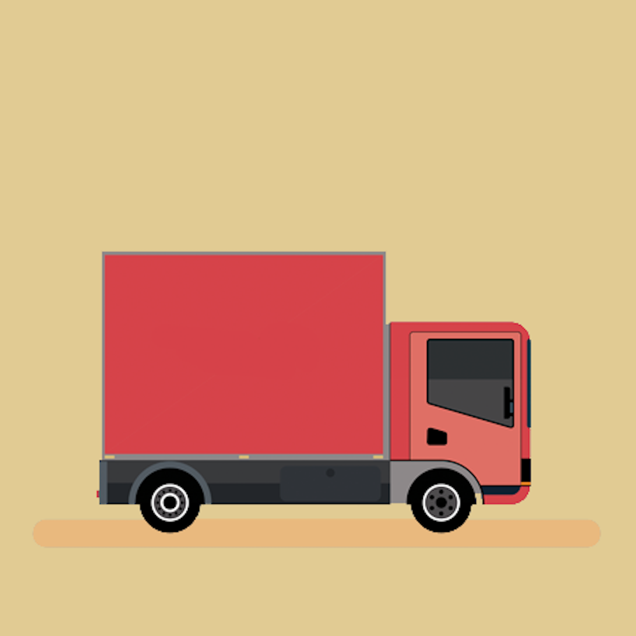 A delivery truck