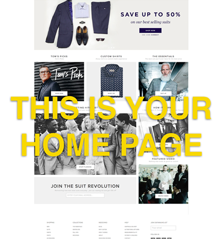 homepage example