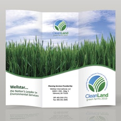 Logo design for Clean Land Green Farms by xowu