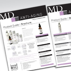 Brochure for brandMD by Hunny