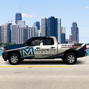 Logo design for Maspeth Roofing by syns&graphix