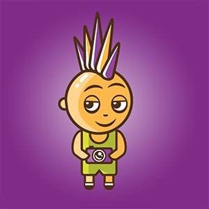 Character or mascot for purple punk photo by gajowy