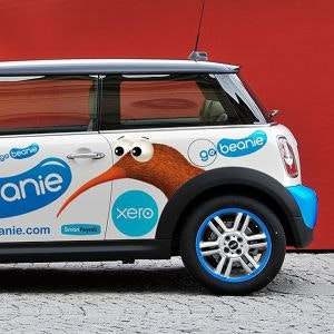 Car, truck or van wrap for GoBeanie by Sidobre