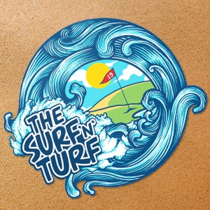 Sticker voor The Surf 'N' Turf door BATHI