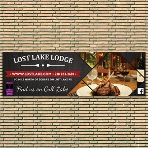 Signage voor Lost Lake Lodge door Lalitha