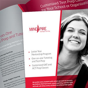 Brochure for Mindspire Tutoring and Test Prep by abufahd