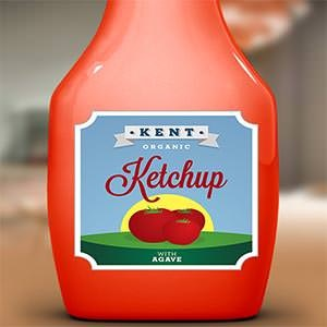 Logo design for Kent Ketchup  by Xebeche
