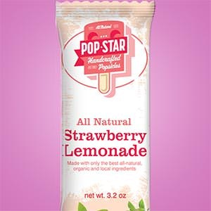 Product packaging for Pop Star Handcrafted Popsicles by GenScythe