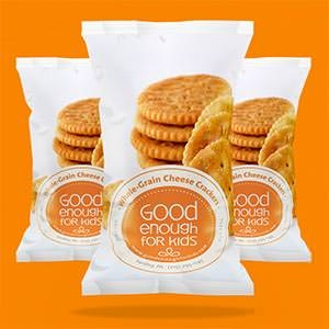 Packaging produitpour Good Enough For Kids réalisé par Cyandesign