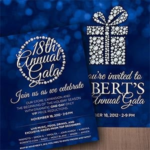 Card or invitation for Albert's Diamond Jewelers by castlerockmedia