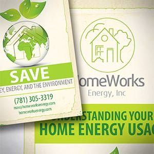 Postcard, flyer or print for HomeWorks Energy by Rgraphic@