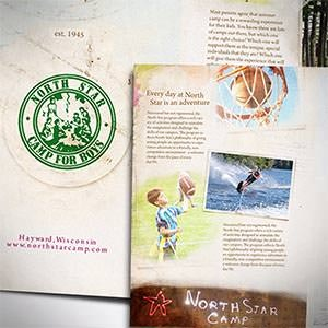 kaart, flyer of print voor North Star Camp for Boys door awesomedesigning